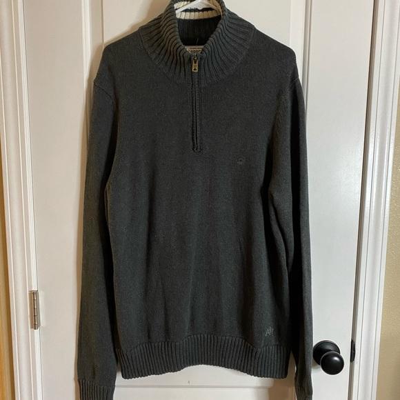 NWT Aeropostale Half Zip Ribbed Sweater